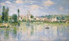 "https://www.facebook.com/Claude.Monet.MiaFeigelson.Gallery  ""Vétheuil in summer"" (1880) By Claude Monet, from Paris (1840 - 1926)  - oil on canvas; 60 x 99.7 cm; 23 5/8 x 39 1/4 in - [Impressionism] © The Metropolitan Museum of Art, New York Bequest of William Church Osborn, 1951 http://www.metmuseum.org/ https://www.facebook.com/metmuseum"