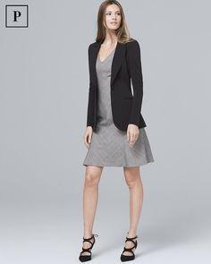 d92aa15d3d3 Women s Petite Plaid A-Line Dress by White House Black Market Chevron  Patterns