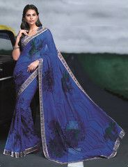 Purple Color Georgette Casual Party Sarees : Neharika Collection YF-28568