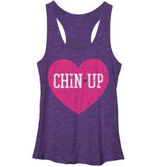 Women's - Logo Heart Chin Up Tank Top www.chinupapparel.com