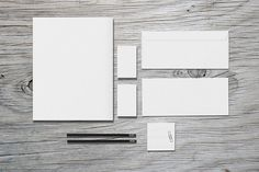 Stationery / Branding - Mock-Up by Macrochromatic on @creativemarket