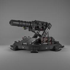 turret artillery 3d max