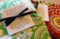 DIY: Therapy Sacks....also has cute little poem  you can attach....would make a cute gift!