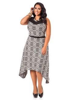 5c66b8aab35 Ashley Stewart Womens Plus Size Mesh Yoke Jacquard Print Hanki Hem Maxi  Dress