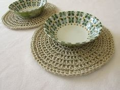 How to crochet rustic round placemats / coasters - any size