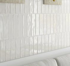 Dreaming of an extra or designer master bathroom? We've gathered together plenty of gorgeous bathroom suggestions for small or large budgets, including baths, showers, sinks and basins, plus master bathroom decor tips. White Bathroom Tiles, White Tiles, Small Bathroom, White Tile Backsplash, White Bathrooms, White Glass Tile, Remodled Bathrooms, Colorful Bathroom, Beautiful Bathrooms