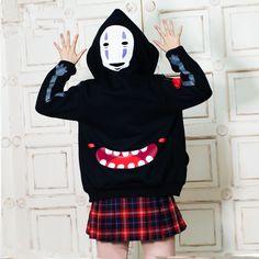 2727fb25d8c3 Spirited Away No Face Man Hoodie No-face Cosplay Pullover Sweatshirt Black  Long Sleeve Hoodie Casual Wear Japanese Anime Hoodie