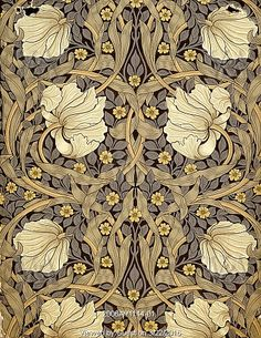 Pimpernel wallpaper, by William Morris. England, 1876