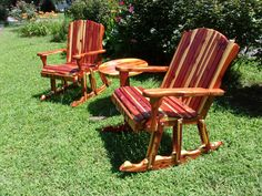 "Finally here! Our Cedar Line Rocking Chairs! Custom Built From Fresh Cut Cedar. Heavy Duty Construction and an Extra Wide 24"" Seat. Lots of Options Available! $175"
