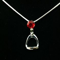 English Stirrup Necklace - In many colors, matching earrings also available! 50% off, only $4.99 | ChickSaddlery.com
