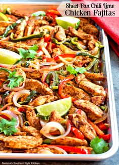 These Sheet Pan Chili-Lime Chicken Fajitas are as flavorful as the colors are vibrant. Made entirely in the oven, these fajitas are easy enough for a quick weekday meal but, delicious enough to serve to friends when hosting a homemade fiesta. Prepare the chicken strips and cut the vegetables up in advance and it becomes...Read More »