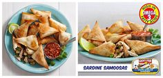 These Sardine Samoosas are sure to be hit with your friends.   Recipe: https://www.facebook.com/photo.php?fbid=557560094331376&set=a.521247361295983.1073741837.302222999865088&type=3&theater
