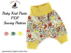 Free pattern: Easy to sew knit pants for baby Denise from Whimsy Couture shares a free pattern for these sweet knit pants for baby. The knit waist band and cuffs are easy to sew and, even better, they
