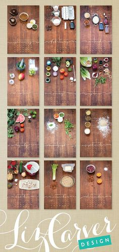 2014 Recipe Wall Calendar Local/Seasonal by lizcarverdesign