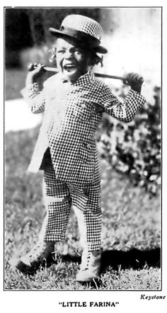 Actor Little Farina (The Little Rascals - March, Yeah they had swag and style in the twenties! Black Actors, Black Celebrities, Child Actors, African Diaspora, My Black Is Beautiful, African American History, Old Hollywood, Hollywood Stars, History Facts