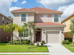 Orlando vacation rentals, gated resort community near Disney. Accommodates 12 adults + 2 children with 6 bedrooms, 5 bathrooms and private pool. Orlando Vacation, Vacation Rentals, Sims House Plans, Palm Resort, Paint Colors For Home, Cool House Designs, Little Houses, Renting A House, Patio