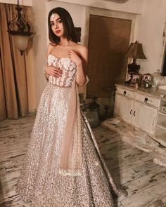 Kushi Kapoor Daughter of Sri Devi Kapoor In A Beautiful Lehenga