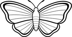 Clipart Butterfly Outline Clipart Panda Free Clipart Images Butterfly coloring page Butterfly black and white Butterfly clip art