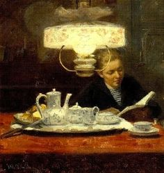 """Elin Kleopatra Danielson-Gambogi (Finnish painter, 1861-1919) - """"Sisters"""" (detail), 1891"""