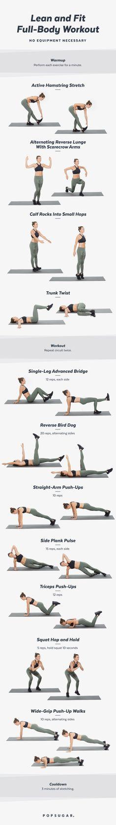 20-Minute Bodyweight Workout Video POPSUGAR Fitness