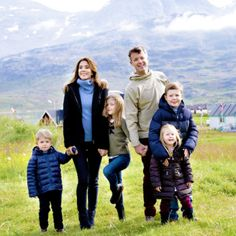 TRH Crown Prince Frederik and Crown Princess Mary of Denmarkand their children enjoy their first day of an 8 day vacation in Greenland 8/1/2014