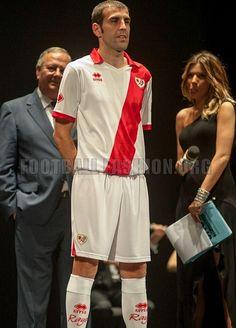 Rayo Vallecano 2013/14 Errea Home Kit Soccer Kits, Tops, Fashion, Lightning Bolt, Moda, Football Kits, Fashion Styles, Fashion Illustrations