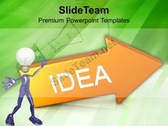 Arrow With Idea Concept Business PowerPoint Templates PPT Themes And Graphics 0213 #PowerPoint #Templates #Themes #Background