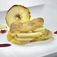 Milhojas de Queso Roncal, manzana y foie. Foto DO Queso Roncal