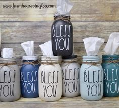 Mason Jar Art, Mason Jar Storage, Fall Mason Jars, Christmas Mason Jars, Painted Mason Jars, Mason Jar Gifts, Mason Jar Fall Crafts, Mason Jar Bathroom, Rustic Mason Jars