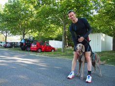Finn und sein Mensch Markus auf der #Donauinsel (#Wien) Sporty, Running, Style, Fashion, Keep Running, Pet Dogs, Racing, Moda, Stylus