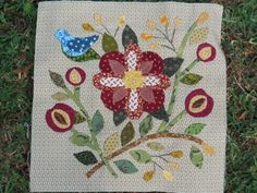 Detail of Caswell quilt, by Quilting by Celia