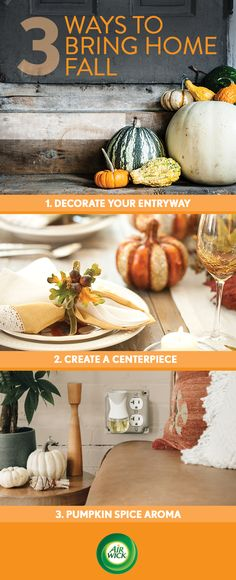 Bring the outdoors in this fall starting with Air Wick's Limited Edition Pumpkin Spice Scent.