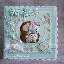 penny black cards - such a pretty blue