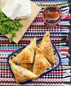 Cheese and herbs turnovers