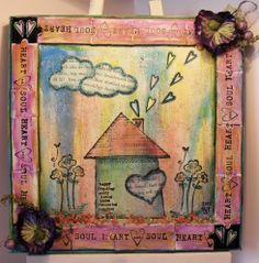 Welcome to the official Fiskarettes UK Community. Something Old, Art Journaling, Altered Art, I Card, Art Art, Vintage World Maps, Mixed Media, Heart, Art Diary