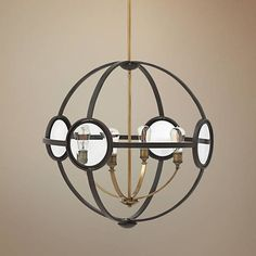 "Hinkley Fulham 26"" Wide Buckeye Bronze 4-Light Pendant - #1V291 