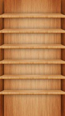 Wood Shelf Wallpapers on iPhone 6