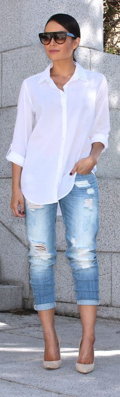 Cotton Oversized Shirt / Fashion By Style Me Yesterday