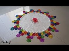 Easy Floral Rangoli Unique Rangoli Design using Chalni | - YouTube