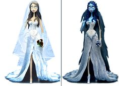 "Photomanipulation: Emily by Rzeznik91 if I ever get married, I'd like to possibly get married in a dress like Emily's from ""Corpse Bride."" The way it would have looked before she started decomposing, that is. And I'd add sleeves."
