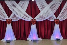 Love is in the air Church Altar Decorations, Blue Wedding Decorations, Backdrop Decorations, Balloon Decorations, Curtain Backdrop Wedding, Wedding Backdrop Design, Living Room Decor Curtains, Decoration Evenementielle, Backdrops For Parties