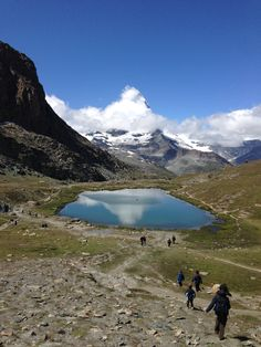 Lake in Zermatt valley