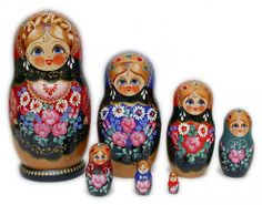 Ive always loved these dolls. I have a collection of them, from Russia.   Daisies 7 pcs Nesting Dolls
