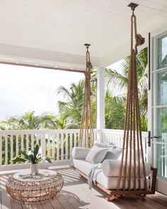Planning and Designing a New Porch Swing Bed - Plank and Pillow Dream Home Design, My Dream Home, House Design, Balkon Design, Backyard Patio Designs, Backyard House, Outdoor Living, Diy Home Decor, Bedroom Decor