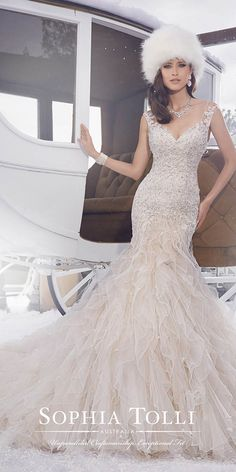 12 Best Sophia Tolli Wedding Dresses ❤ Sophia Tolli wedding dresses are known worldwide for their beautiful designs, hand-beaded appliqués, scalloped lace hem and chapel length train. See more: http://www.weddingforward.com/sophia-tolli-wedding-dresses/ #wedding #dress