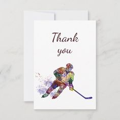 Thank You Hockey Sport #design #health #fitness ice hockey, hockey sur glace, hockey art, dried orange slices, yule decorations, scandinavian christmas Hockey Sport, Hockey Players, Ice Hockey, Quotes Girlfriend, Luxury Brochure, Hockey Quotes, Hockey Gifts, Custom Thank You Cards, Scandinavian Christmas