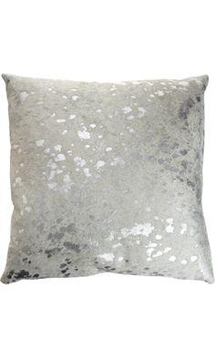 Barneys New York Spot Pillow Cowhide Pillows Silver Pillows