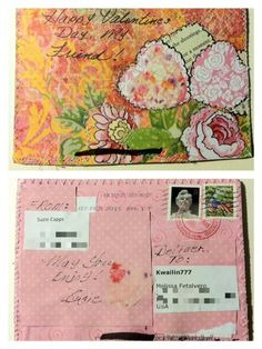 Mail art by Suzie's Art of ATC's For All.