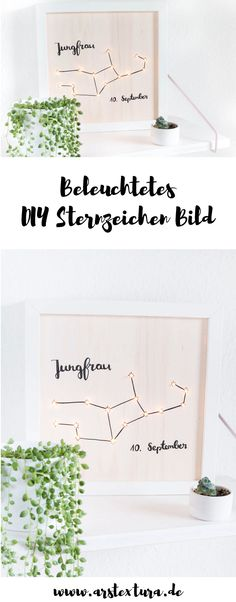 DIY Lightbox - beleuchtetes Sternzeichen Bild basteln - ein schönes Geschenk zum Geburtstag oder zur Hochzeit autour du tissu déco enfant paques bébé déco mariage diy et crochet Diy Holiday Gifts, Diy Gifts, Christmas Diy, Best Gifts, Christmas Decorations, Family Christmas, Christmas Presents, Christmas Cards, Christmas Ornaments