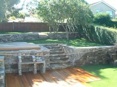 Cool idea for a terraced back yard.